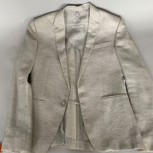 Juun.J Light Grey Blazer with Lurex Thread